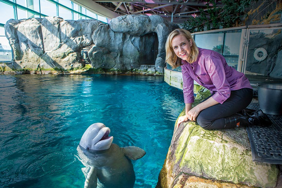 Bridget Coughlin '94: Sharing the story of science at Shed Aquarium in Chicago.
