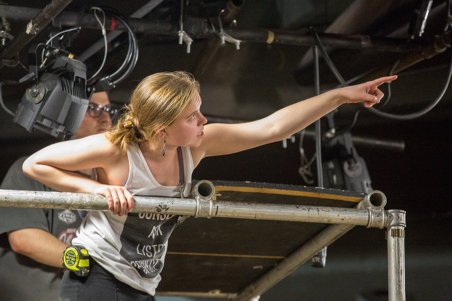 "Niki Acton '16 is master electrician for ""The Secret in the Wings"""