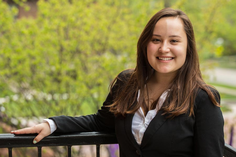 Tawni Sasaki '16 is one of three Knox College students selected for a Fulbright in 2016