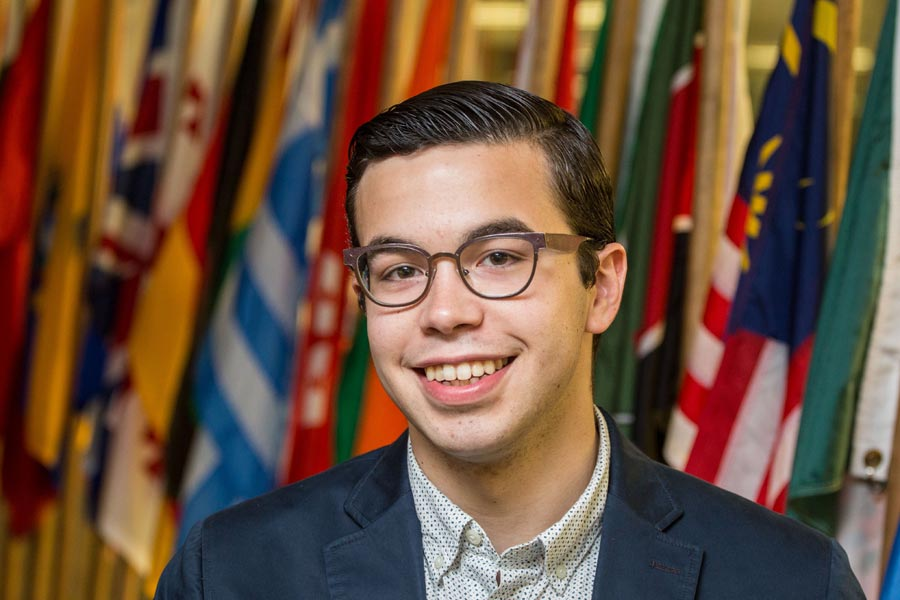 Fulbright scholarships were awarded to three Knox students, including Adrian Secter '16, in 2016.