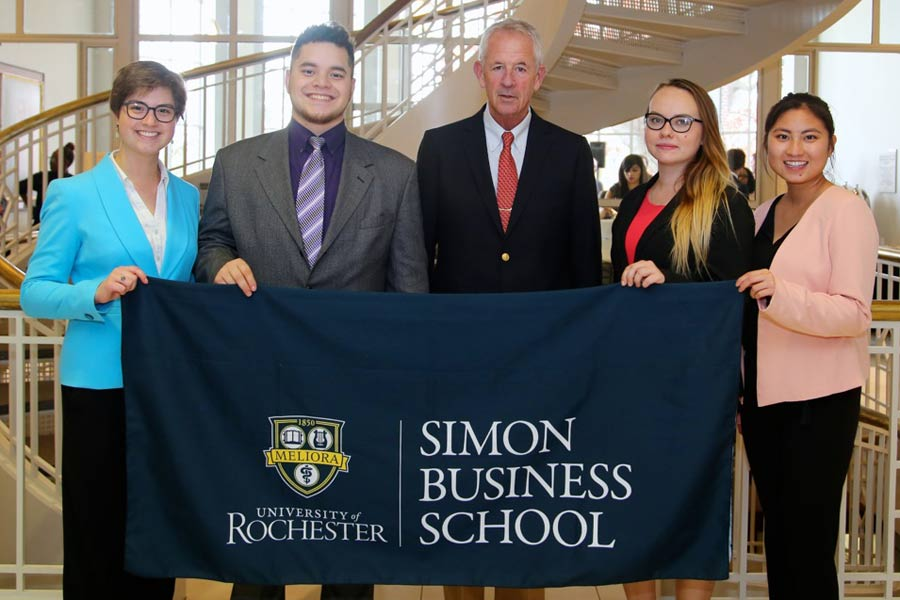 Knox students participated in the first- and second-place teams at the Simon Business School's case competition