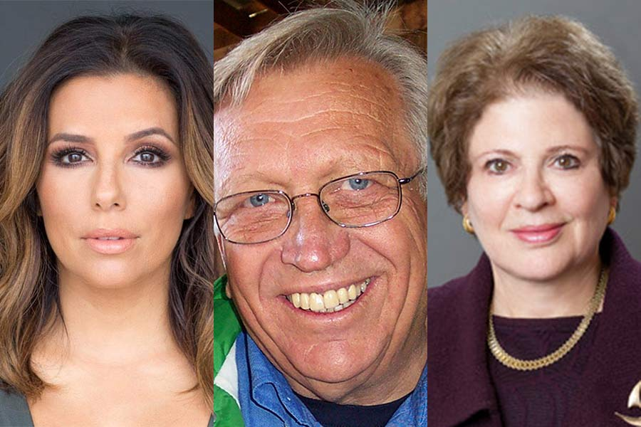 Actress, producer, and philanthropist Eva Longoria; Wes Jackson, a leader in the international sustainable agricultural movement; and Ambassador Fay Hartog Levin, a distinguished fellow at the Chicago Council on Global Affairs.