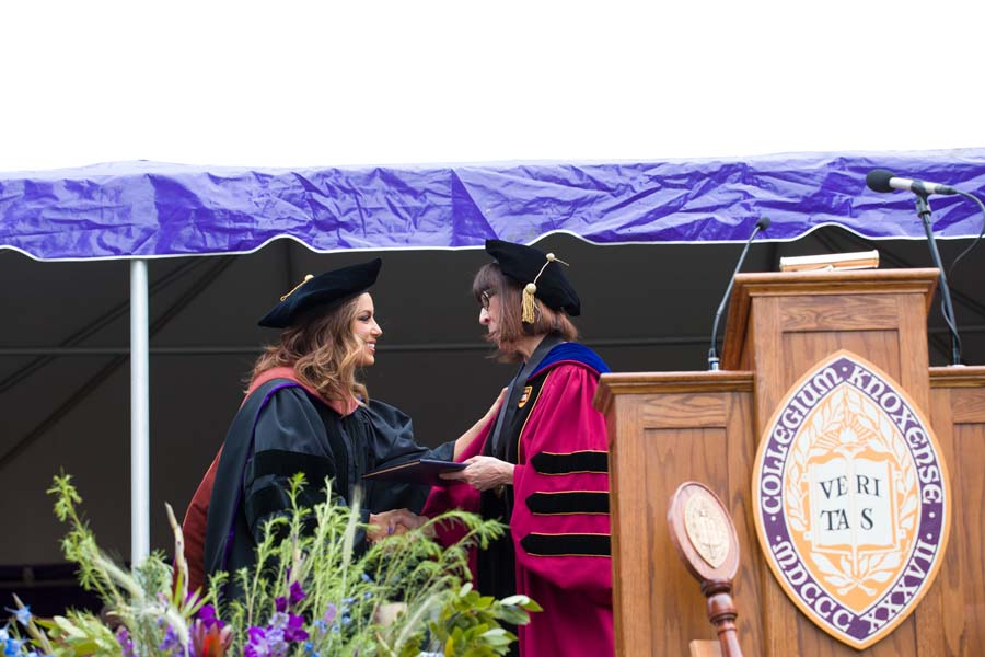 Eva Longoria, award-winning actor, producer, and philanthropist, was awarded the degree of Doctor of Fine Arts at Knox College Commencement 2017.