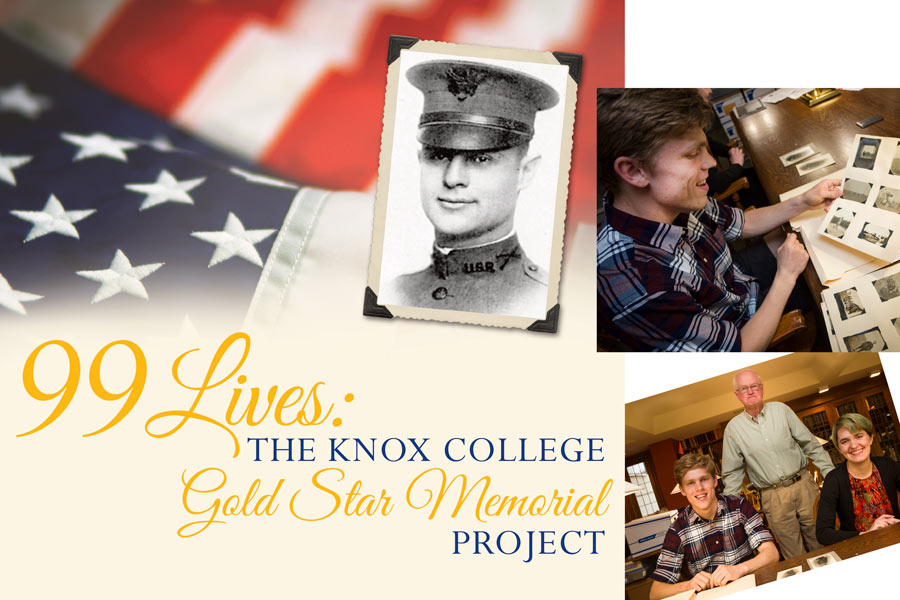 "Poster for ""99 Lives: The Knox College Gold Star Memorial Project"""