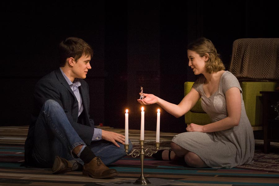 Knox College students rehearsing The Glass Menagerie by Tennessee Williams