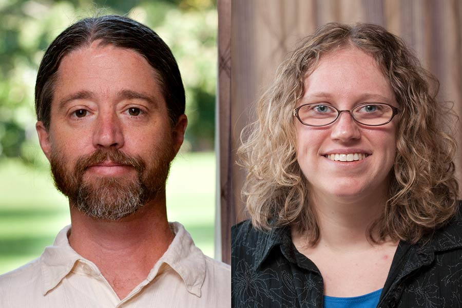 Associate Professors William Hope and Helen Hoyt