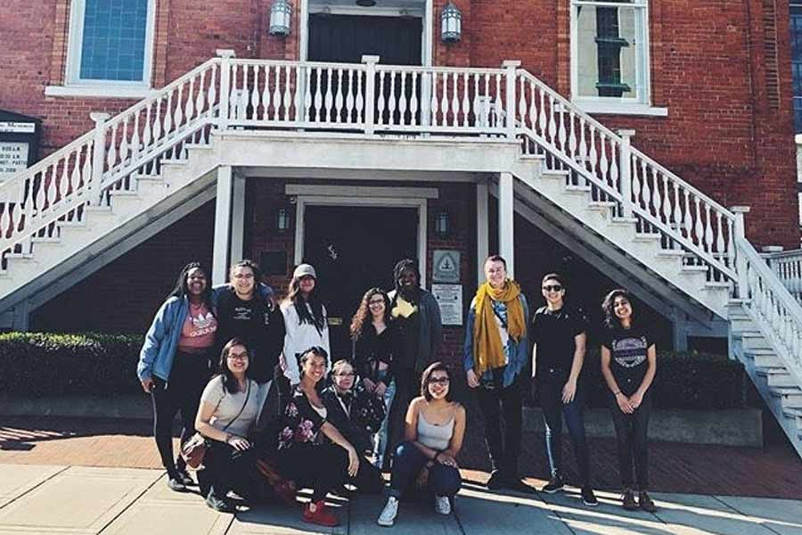 Knox students at Dexter Avenue Baptist Church during To Selma and Back: Alternative Spring Break