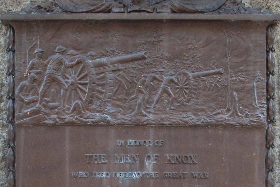 World War I Veterans Memorial at Knox College