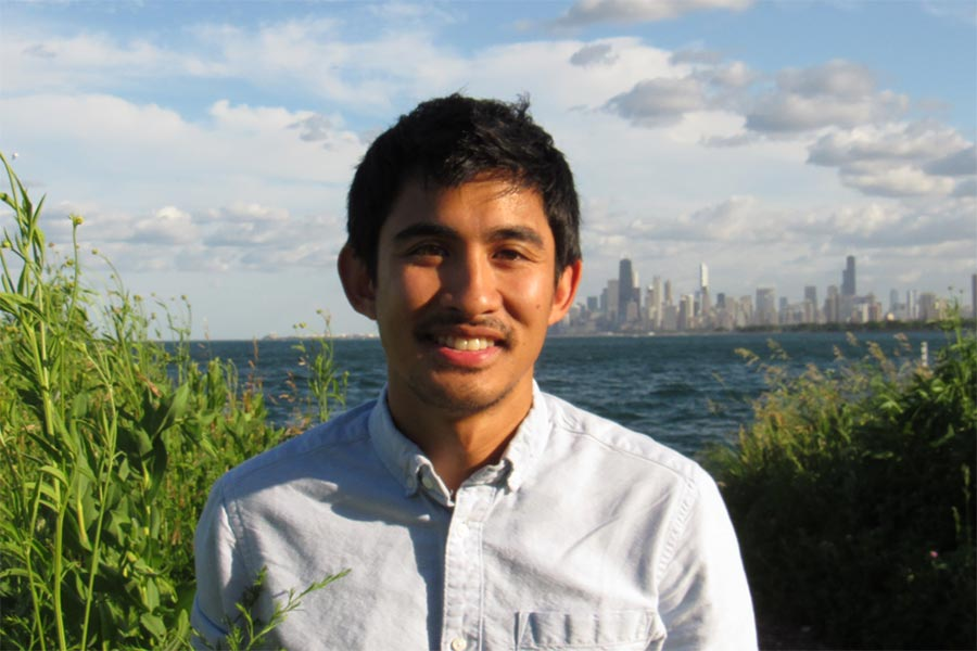 Mikko Jimenez '15, a biology major, works as an outreach biologist for a migratory bird initiative.
