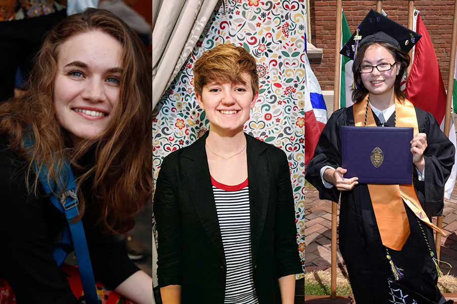 Three Knox students are teaching abroad through the prestigious Fulbright program.